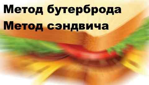 Метод бутерброда в продажах. Метод сэндвича в продажах